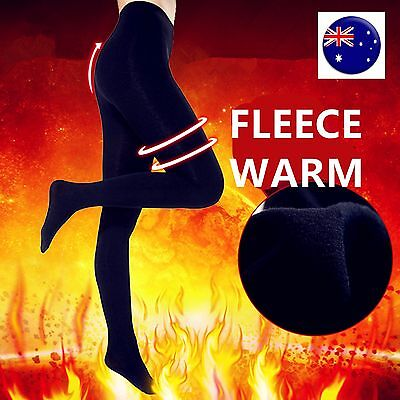 Women Warm Black 400D Fleece Thick thermal Tights Stockings Pantyhose Opaque
