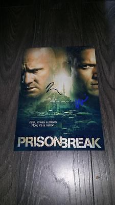 "Prison Break 2017 Pp Signed 12""x8"" A4 Photo Poster Wentworth Miller"