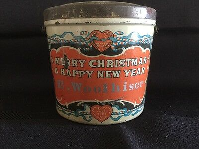 Antique Christmas Advertising Child's Candy Pail c. 1910