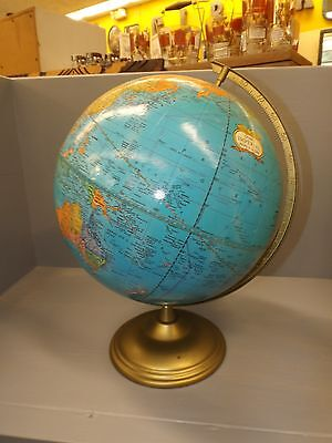"Vintage 1960's Excellent Condition Tin Repogle World GLobe 12"" diameter"