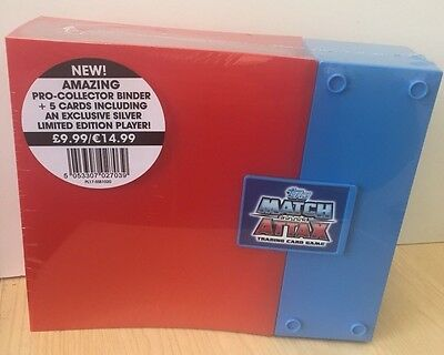Match Attax Pro Collector Binder & 5 cards includes Silver card 2016/2017