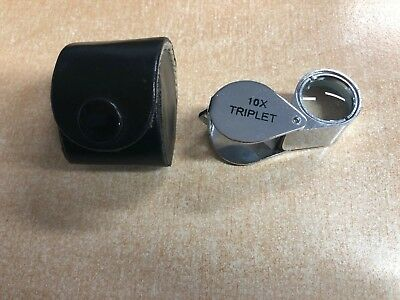 Pocket folding triplet magnifier 10x 14mm