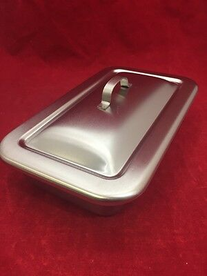 """NEW VOLLRATH Stainless Steel Instrument Tray w/Lid Type I Size I 8.75""""x5""""x2"""""""