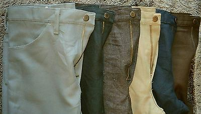 Wranglers Vintage Mens Poly Pants Trousers Dress jeans polyester 31 32 34 36 38+