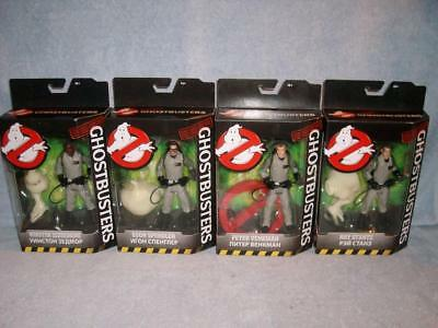 Ray Egon Peter Winston Set Lot of 4 Classic Ghostbusters Mattel 2016 New Sealed