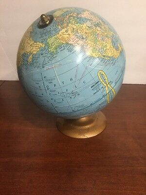 Cram 9-Inch Terrestrial Globe~Rare~ Vintage~The World Before It Changed