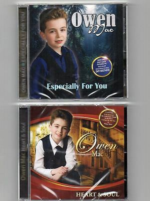OWEN MAC 2 CD's Especially For You (CD2016) & Heart And Soul (CD2017)Free UK P&P