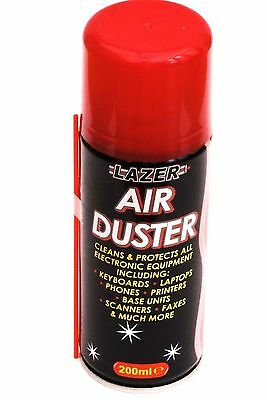 New Compressed Air Duster Spray Can Cleans & Protects Laptops Keyboards 200ml UK