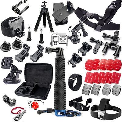 for Gopro Hero 7 Xiaomi yi GS51 Accessories Set Helmet Harness Chest Strap Mount