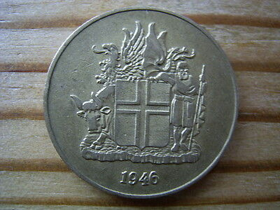 1946  Iceland 1 krona Coin collectable