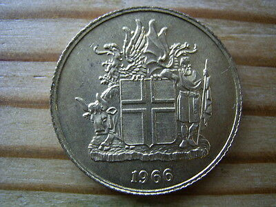 1966  Iceland 1 krona Coin collectable