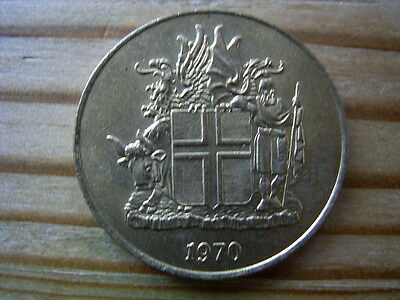 1970  Iceland 1 krona Coin collectable