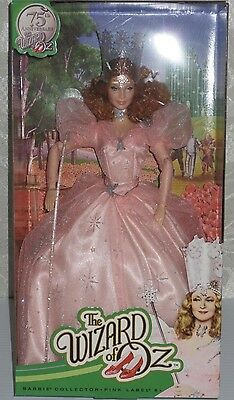 75th Anniversary The Wizard Of OZ GLINDA Barbie Doll Pink Label MINT