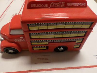 Coca Cola Delivery Truck Cookie Jar - 2006 Coke Red - Gibson
