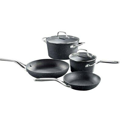 New Baccarat Rock Cookware Set 4 Piece + FREE Baccarat 28cm Grill Pan