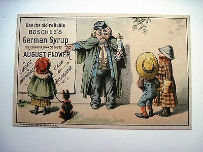 "Victorian Trade Card for ""Boschee's German Cough Syrup"" w/ Old Jewish Guy *"