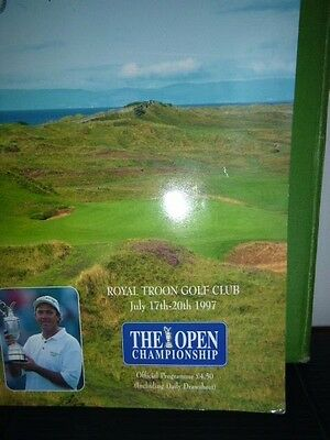 The Open Golf  Championship Programme 1997 From Royal Troon