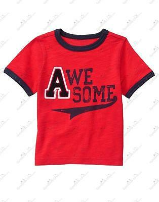 New/NWT Gymboree Huddle Up Toddler Boys Awesome Applique Tee/Shirt, Size 2T
