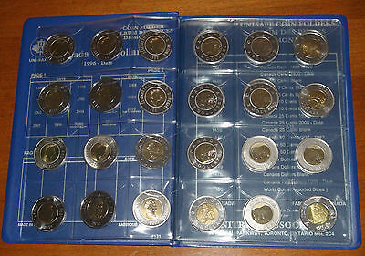 COLLECTION DELUXE of Canada TWO DOLLARS Pieces (1996-2017) ALL UNC TOONIES SET!