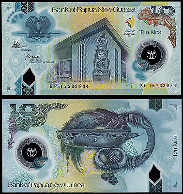 Papua New Guinea 10 Kina (P49) 2015 Commemorative Issue Polymer Unc