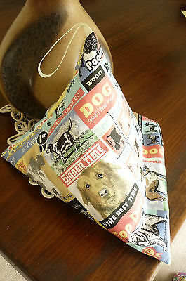 DOGS  iPAD, TABLET, BEAN BAG RESTING PILLOW, CUSHION HANDMADE