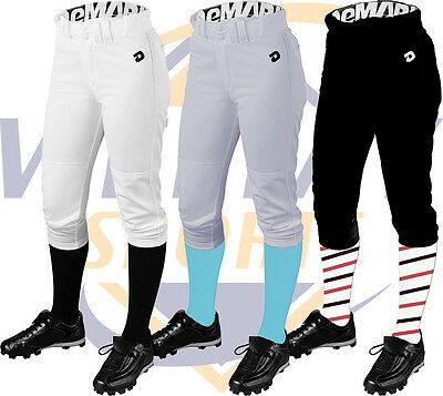 DeMarini Deluxe Adult Womens Fastpitch Softball Pants WTC7605 White, Black, Grey
