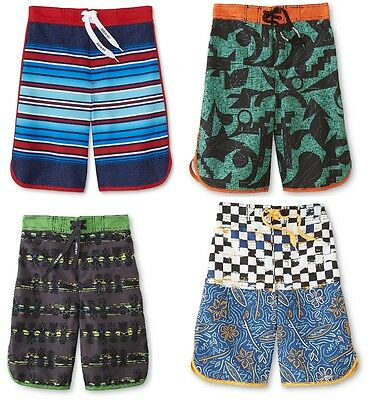 Joe Boxer Boys Swim Trunks Printed Polyester size 7 8 10-12 14-16 18-20 NEW