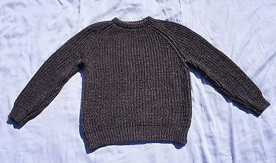 Vintage Cornish Jumpers 100% Wool Cable Knit Fisherman Sweater England Sz M/L