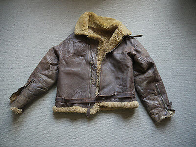 1940s WWII 1st Pattern Damaged IRVIN Flight Jacket with Broken Lightning Zippers