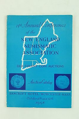 New England Numismatic Association 14th Annual 1958 Vintage Coin Auction Catalog