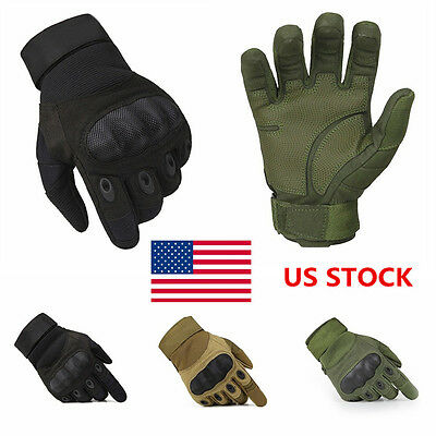 US Outdoor Military Tactical Climb Cycle Gloves Full Finger Antiship Breathable