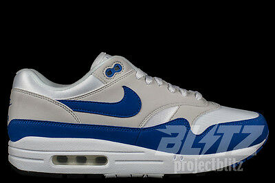 NIKE AIR MAX 1 Anniversary 2017 White Game Royal Blue Grey