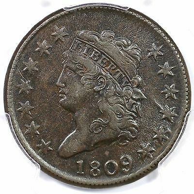 1809 S-280 R-2 PCGS XF 45 Classic Head Large Cent Coin 1c Ex; Ralls