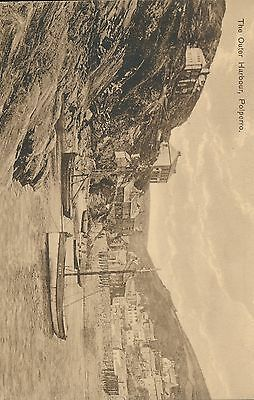 R004325 The Outer Harbour. Polperro. Tuck. Sepia