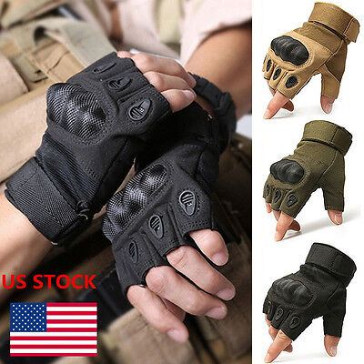 Tactical Half Finger Military Glove Outdoor Motorcycle Cycling Fingerless Gloves
