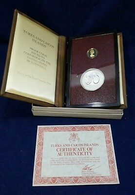 Turks&Caicos Islands U.S . Bicentennial 1976 Coins Proof 50,25 CROWN GOLD&SILVER