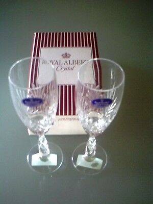 Royal Doulton Rarest Champagne Flutes x 2, 1992 Royal Albert, Boxed,Crystal