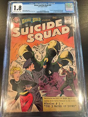 Brave and The bold 25 CGC 1.8 Suicide Squad