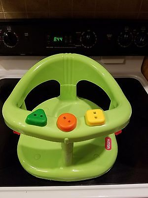 Keter baby infant bath seat ring tub green suction cups