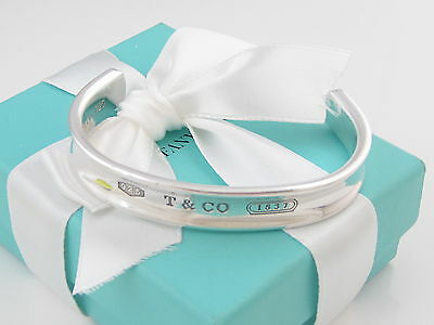 Tiffany & Co Silver Men 1837 Cuff Bangle Bracelet Packaging Box Pouch Included