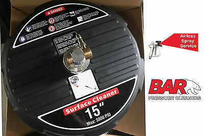 "Bar Whirl A Way 15"" Surface Cleaner Accessory - Excellent Quality"