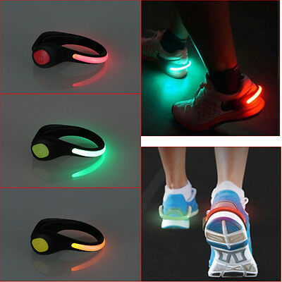 Flashing LED Clips On Shoes For Night Time Running Jogging Trainers