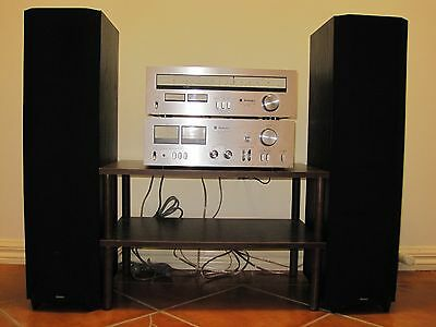Technics Stereo Tuner & Integrated Amplifier with one pairs of Boston speaker.