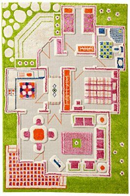 Little Helper IVI Exclusive Thick 3D Childrens Play Mat & Rug in (q8y)