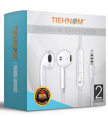 2-Pack Earbuds Headphones Headset Earphones with mic And Volume Control  *SEALED