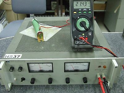 Agilent HP 6267B DC Power Supply 0V-40V 0A-10A w/ opt 005, 028 *Tested & Working