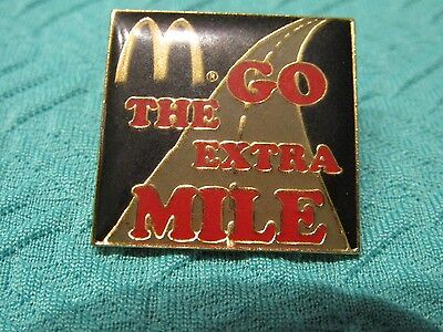 New McDonald's (go the extra mile ) Lapel Pins *FREE S+H!