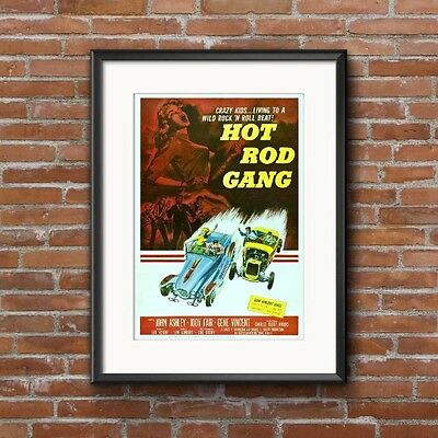 Hot Rod Gang Movie Poster - 1958 Teenage Drag Racing Exploitation