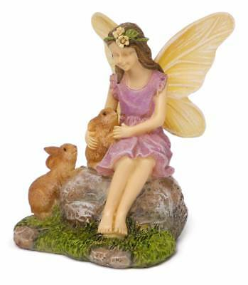 "2.75"" My Fairy Gardens Mini Figure - ""Summer's Friends"" with Rabbits Figurine"