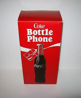 1983 Coca Cola Bottle Phone in Original Factory Box MIB